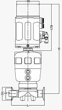 Асептический клапан с позиционером