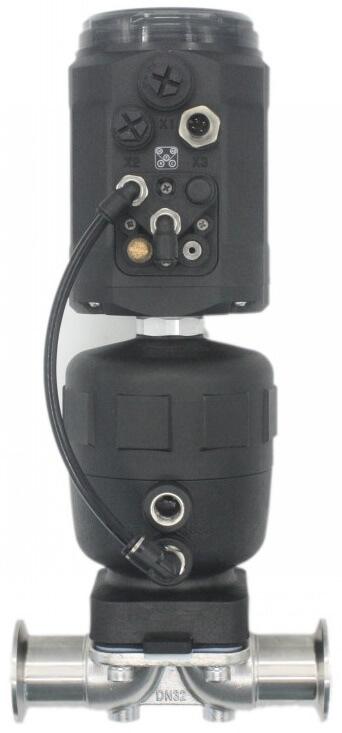 Мембранный пневматический клапан с позиционером